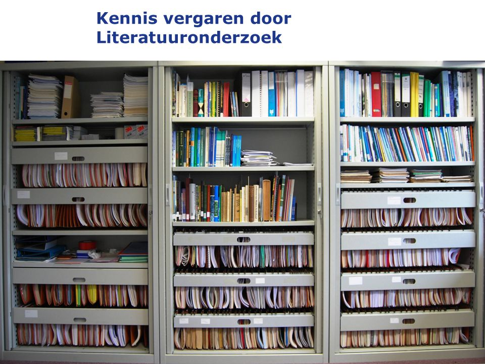 Kennis vergaren door Literatuuronderzoek