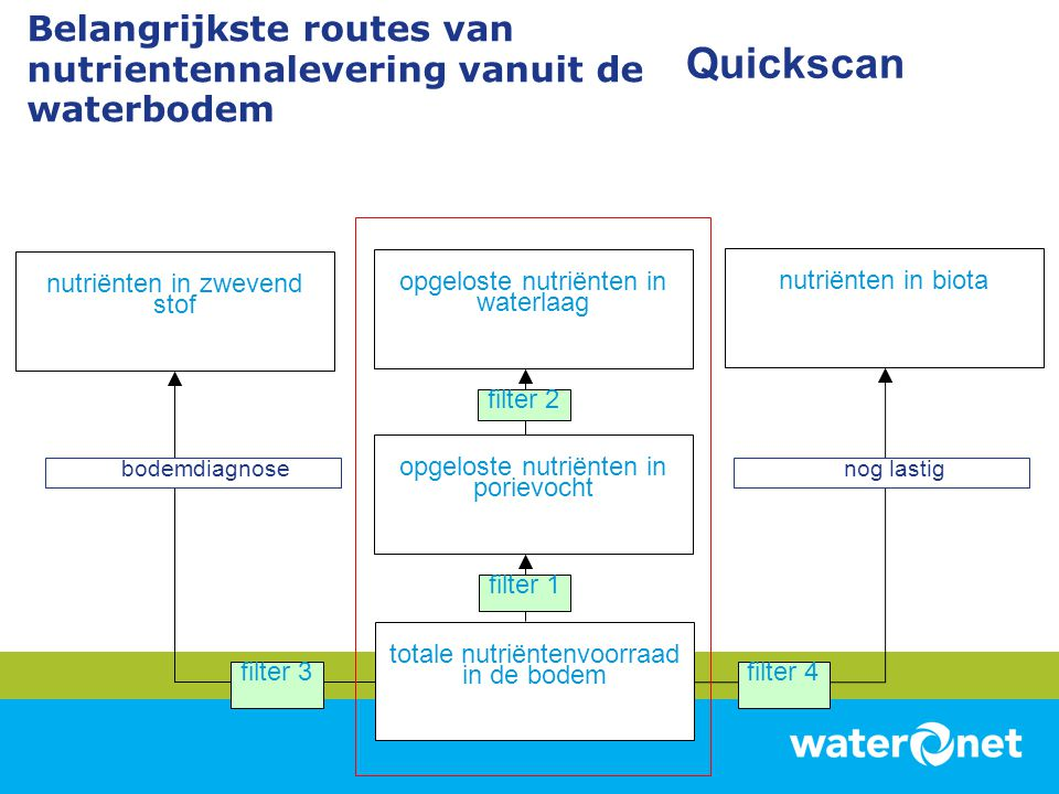 Belangrijkste routes van nutrientennalevering vanuit de waterbodem