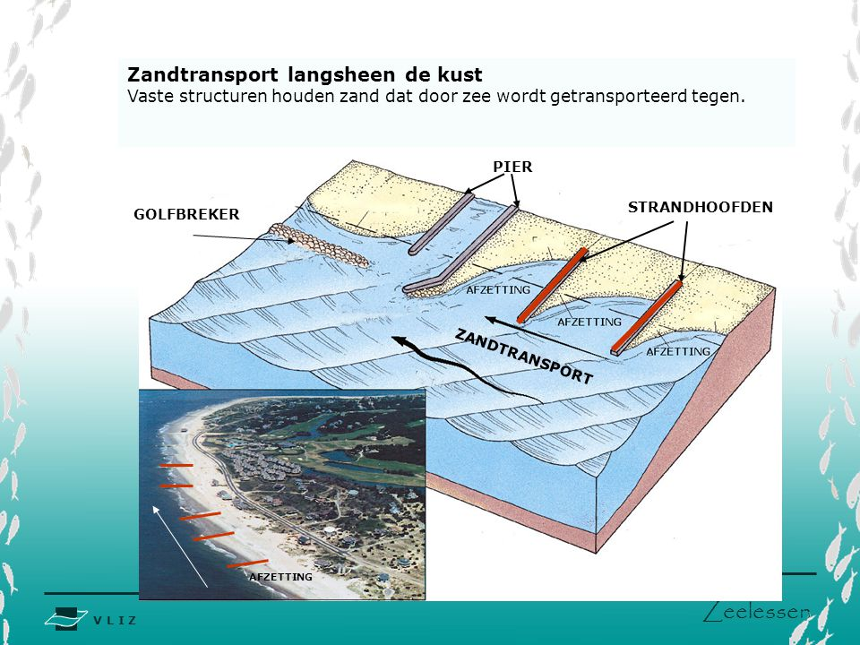 Zandtransport langsheen de kust