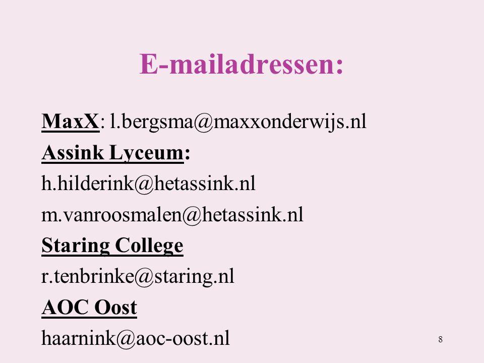 E-mailadressen: