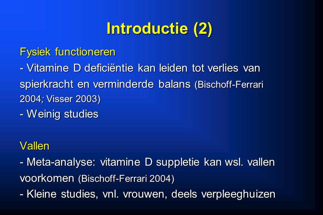 Introductie (2) Fysiek functioneren
