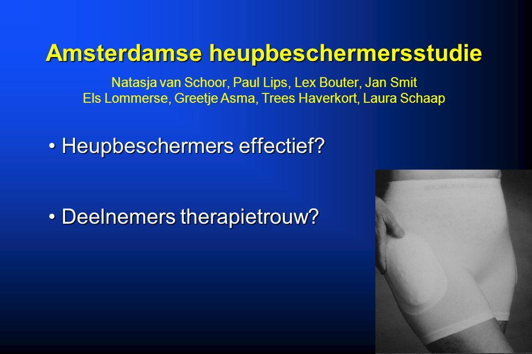 Amsterdamse heupbeschermersstudie Natasja van Schoor, Paul Lips, Lex Bouter, Jan Smit Els Lommerse, Greetje Asma, Trees Haverkort, Laura Schaap