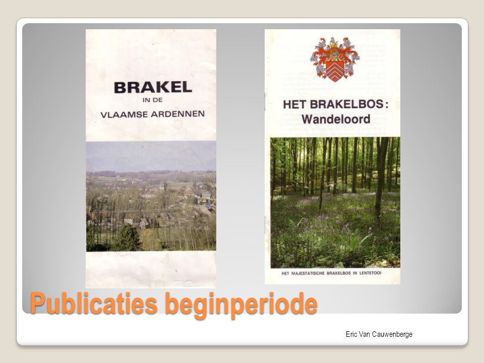 Publicaties beginperiode