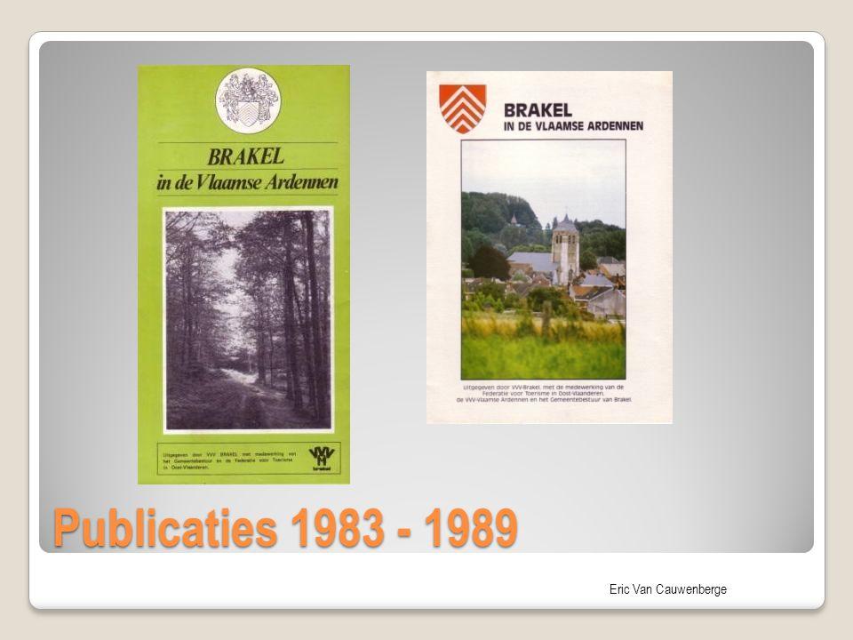 Publicaties 1983 - 1989
