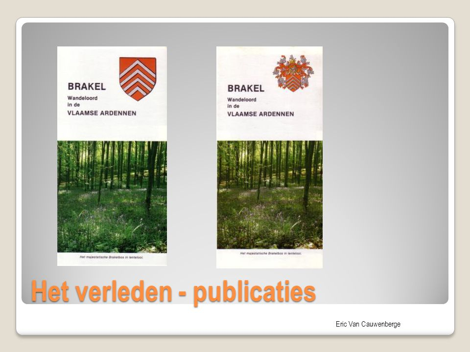 Het verleden - publicaties