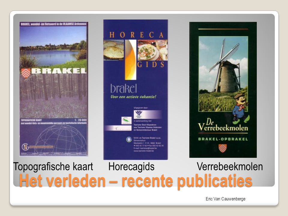 Het verleden – recente publicaties