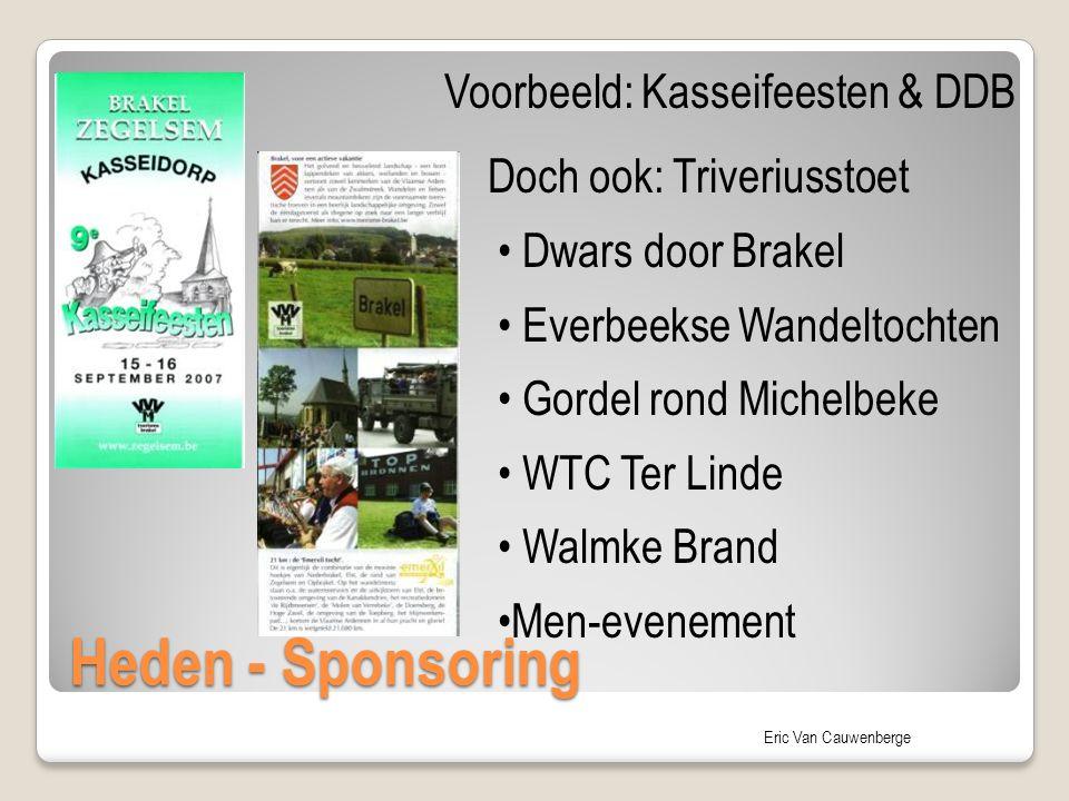 Heden - Sponsoring Voorbeeld: Kasseifeesten & DDB