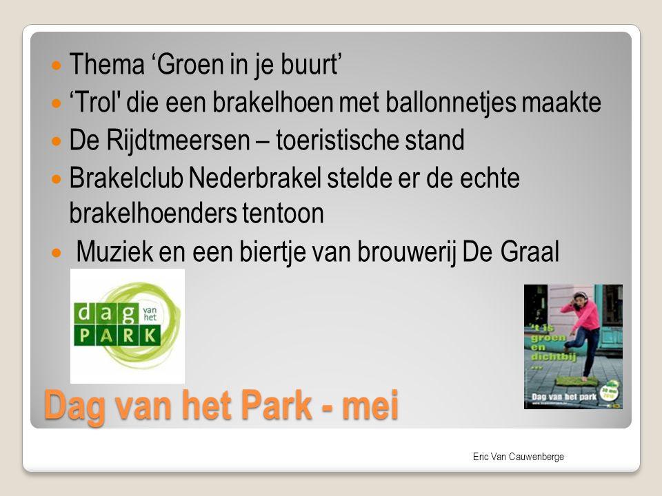 Dag van het Park - mei Thema 'Groen in je buurt'