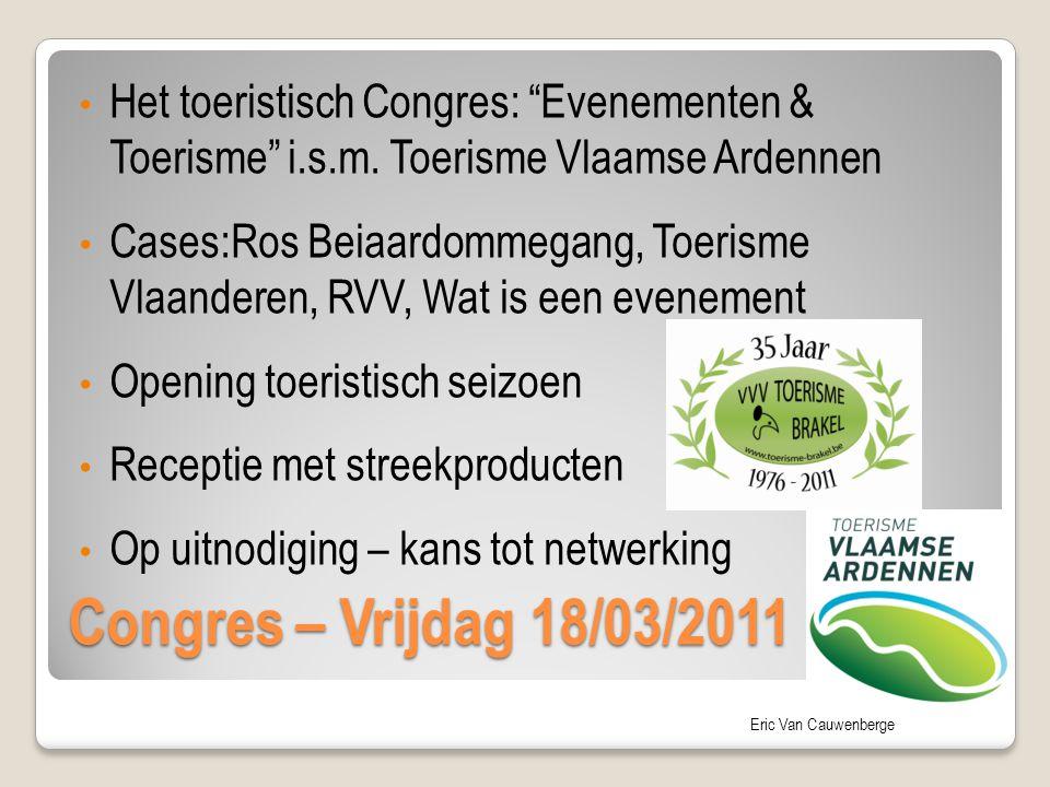 Het toeristisch Congres: Evenementen & Toerisme i. s. m