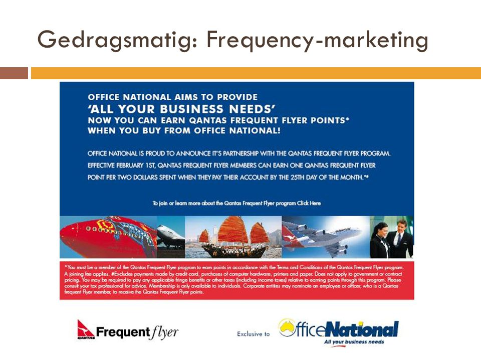 Gedragsmatig: Frequency-marketing