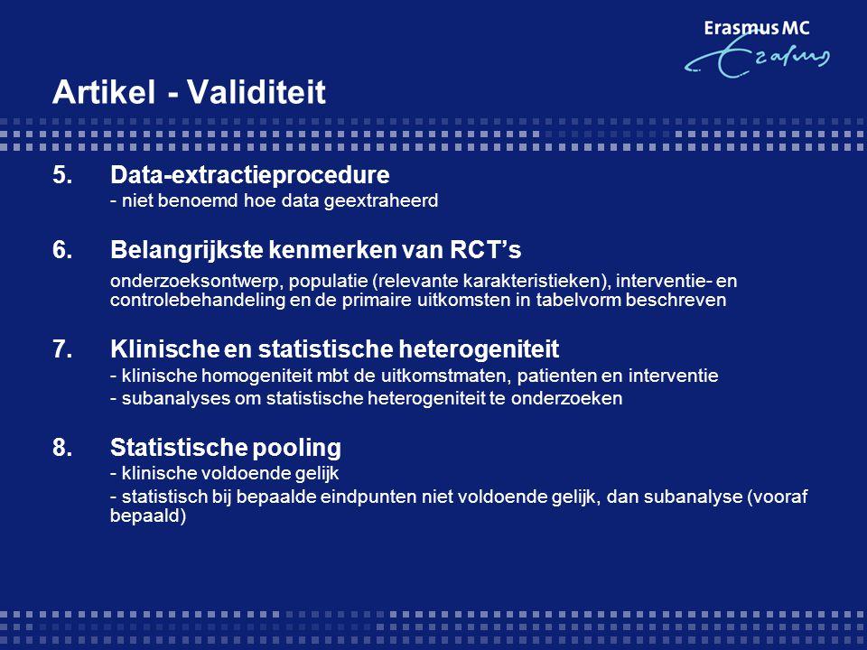 Artikel - Validiteit 5. Data-extractieprocedure