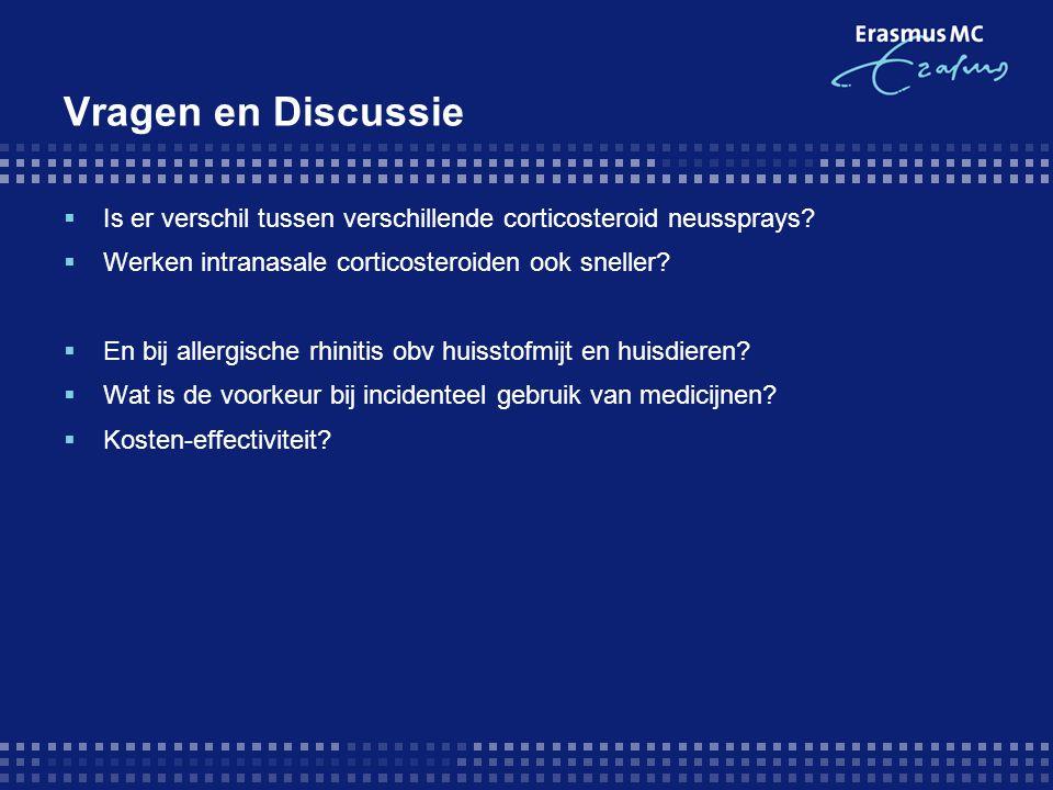 Vragen en Discussie Is er verschil tussen verschillende corticosteroid neussprays Werken intranasale corticosteroiden ook sneller