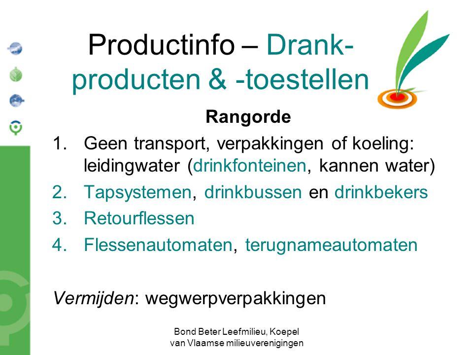 Productinfo – Drank-producten & -toestellen