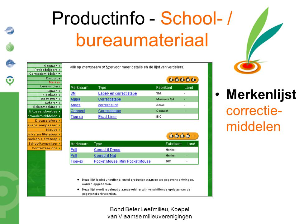 Productinfo - School- / bureaumateriaal