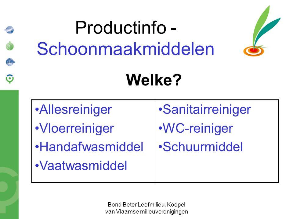 Productinfo - Schoonmaakmiddelen