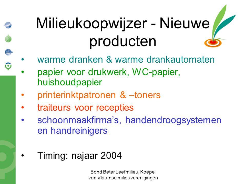 Milieukoopwijzer - Nieuwe producten