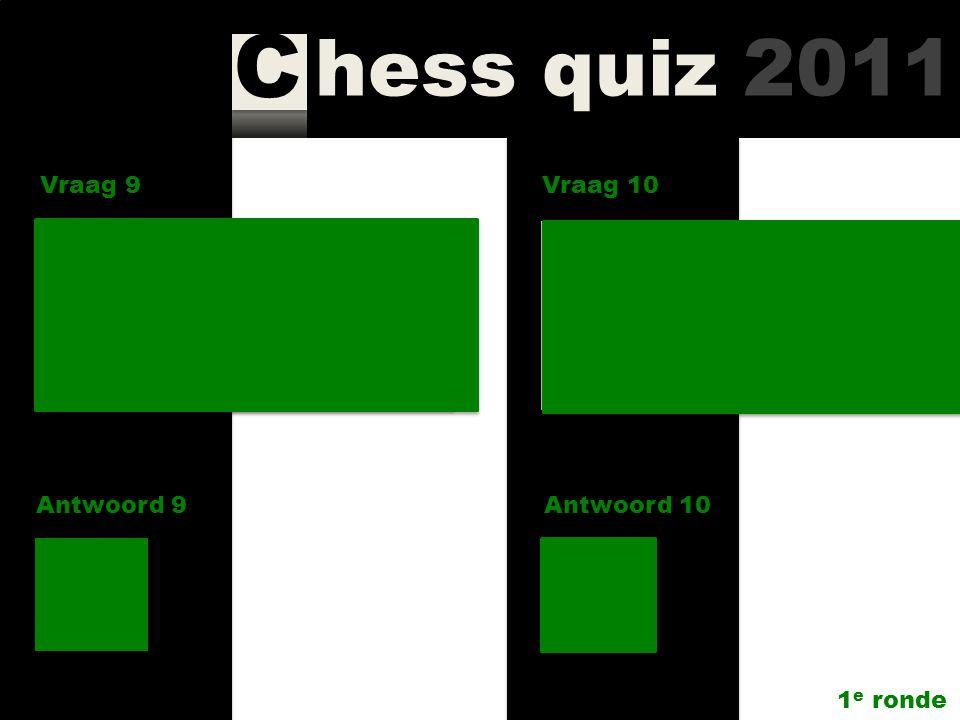 Vraag 9 Vraag 10. Hoe heet de rubriek voor ingezonden brieven in. New In Chess