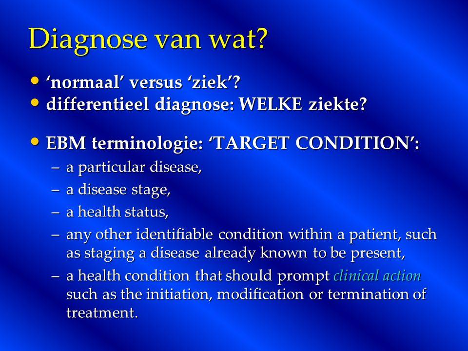 Diagnose van wat 'normaal' versus 'ziek'