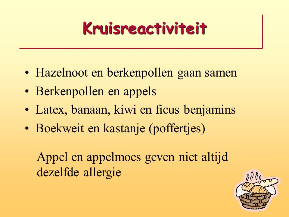 Kruisreactiviteit Hazelnoot en berkenpollen gaan samen