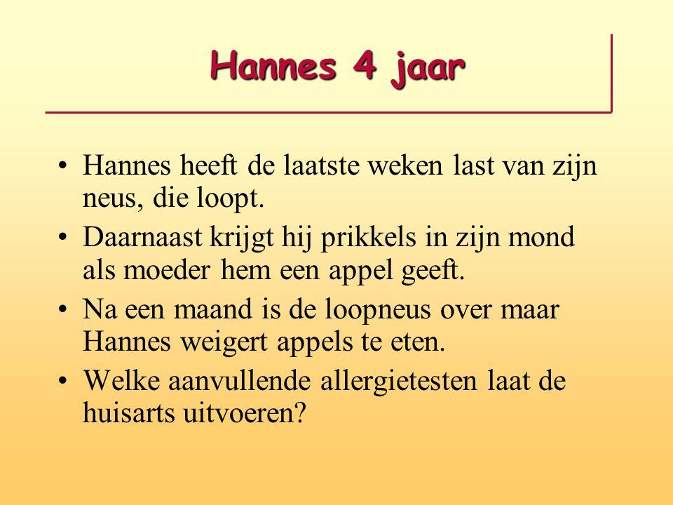 Hannes 4 jaar Hannes heeft de laatste weken last van zijn neus, die loopt.