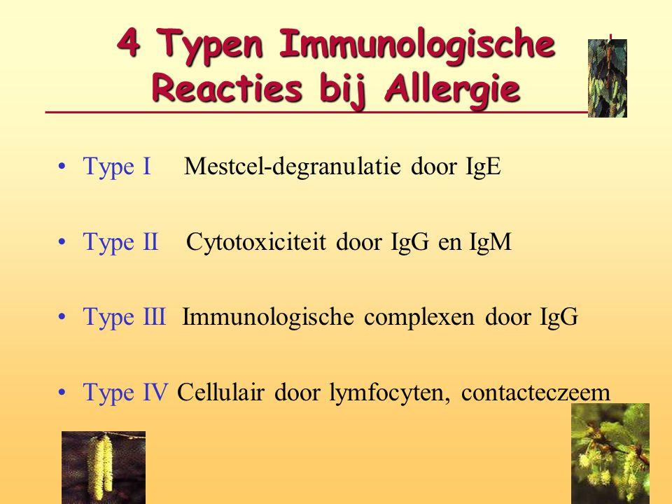 4 Typen Immunologische Reacties bij Allergie