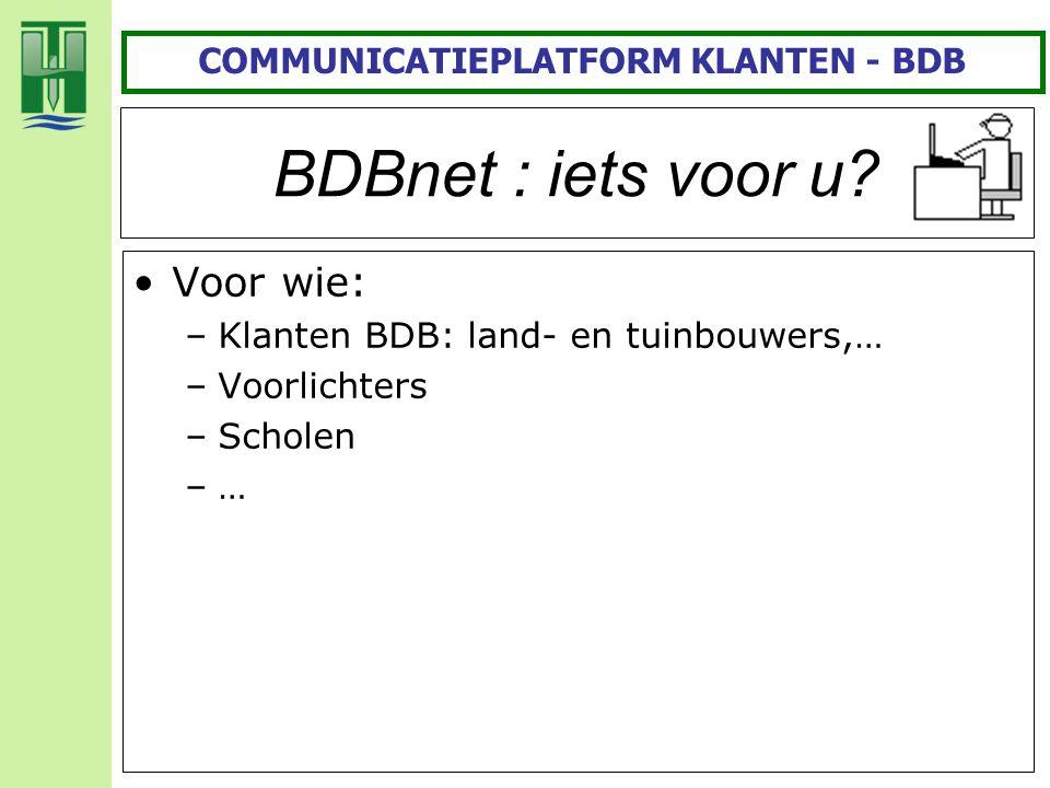 COMMUNICATIEPLATFORM KLANTEN - BDB