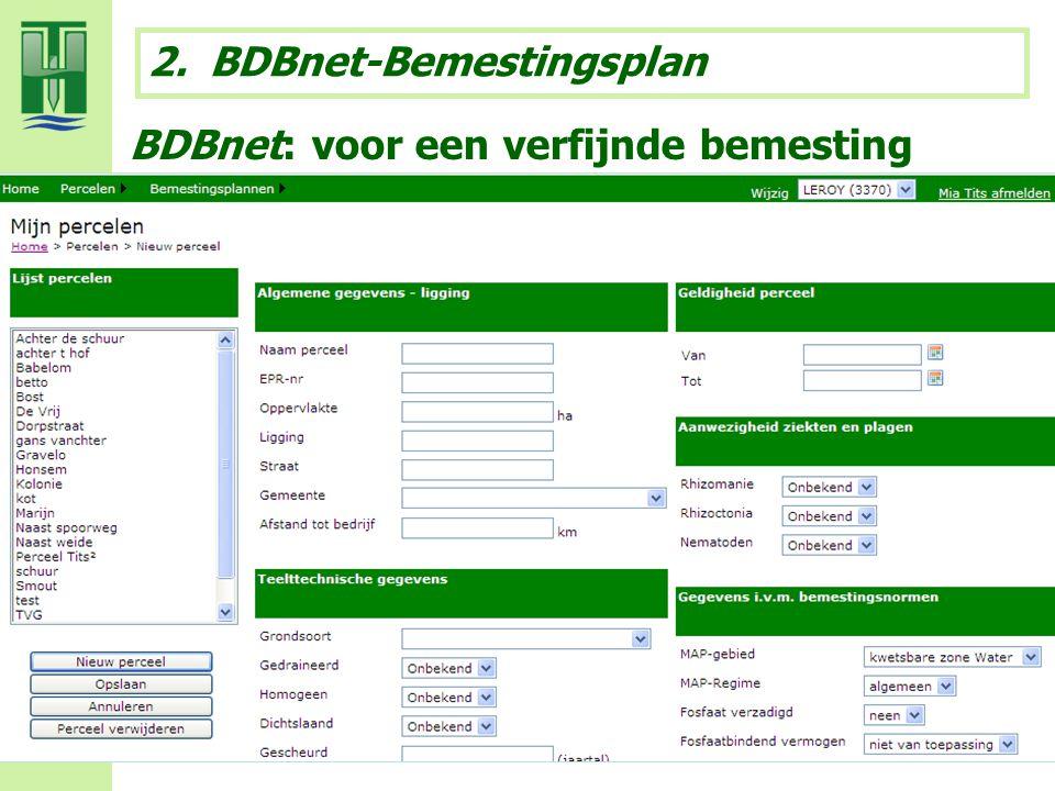 BDBnet-Bemestingsplan