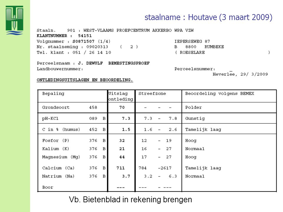 staalname : Houtave (3 maart 2009)