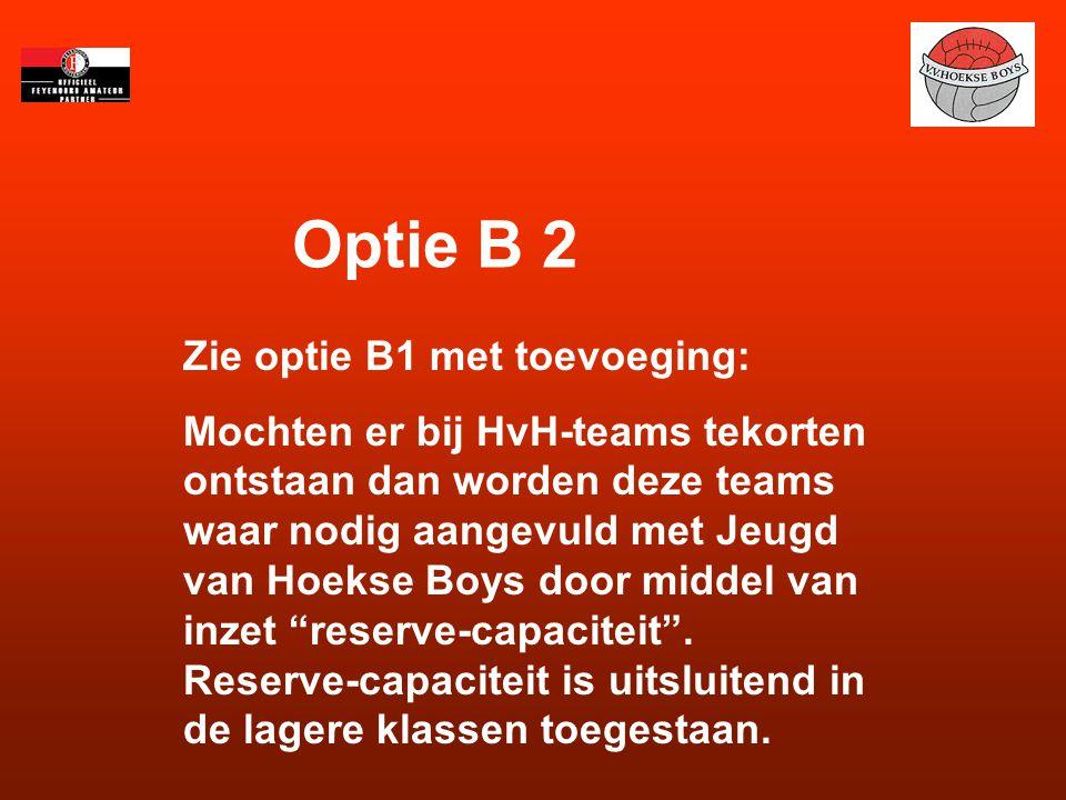 Optie B 2 Zie optie B1 met toevoeging: