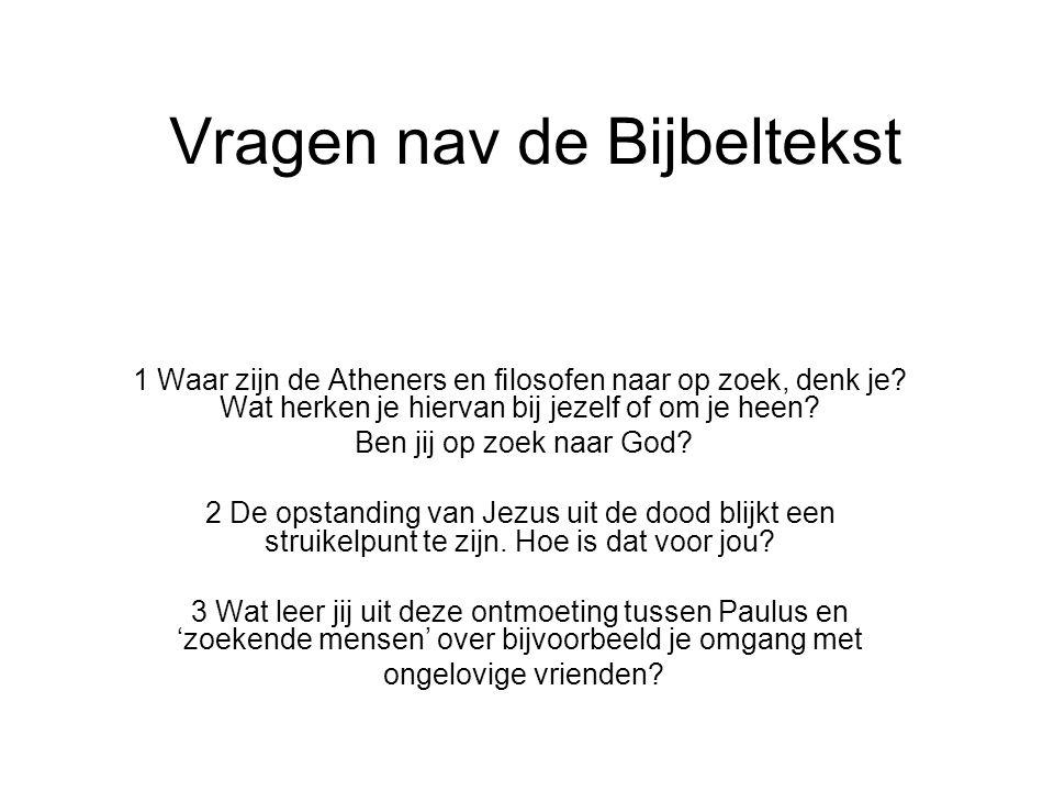 Vragen nav de Bijbeltekst