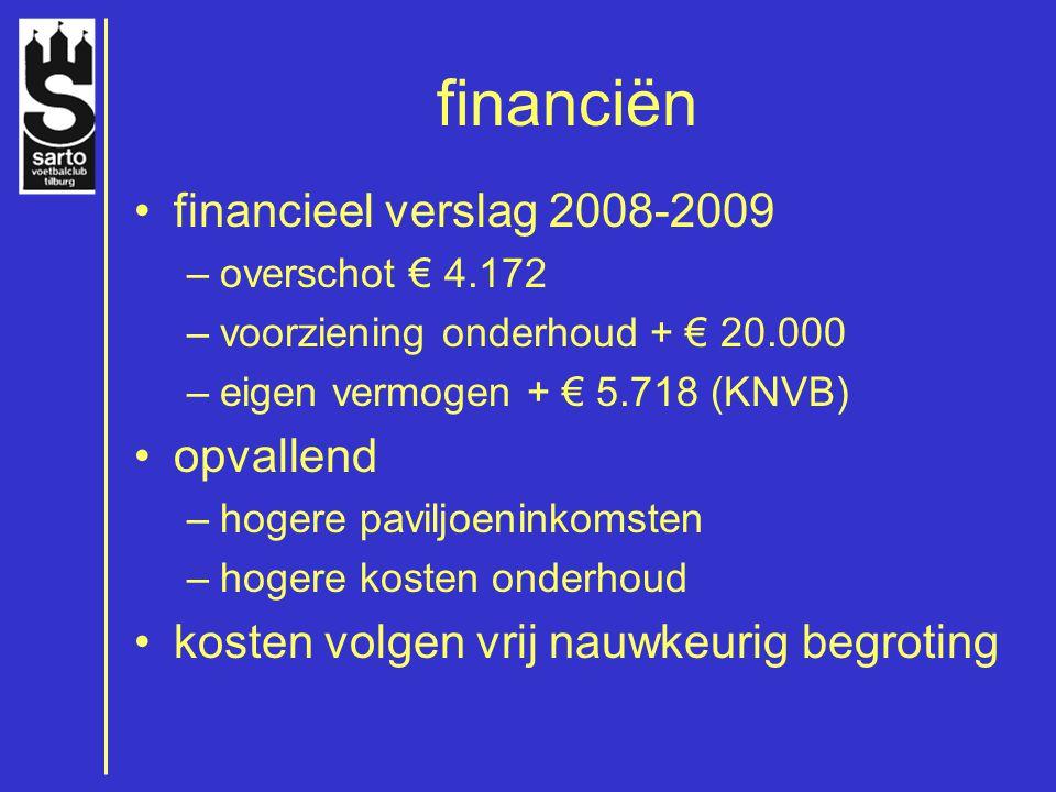 financiën financieel verslag 2008-2009 opvallend