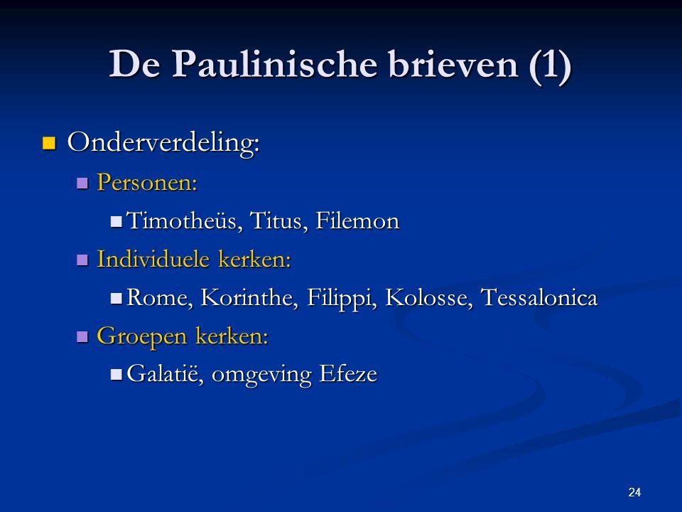 De Paulinische brieven (1)