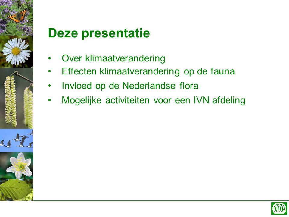Deze presentatie Over klimaatverandering