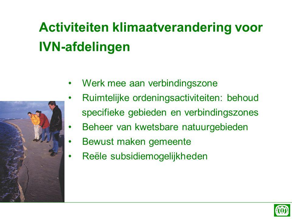 Activiteiten klimaatverandering voor IVN-afdelingen