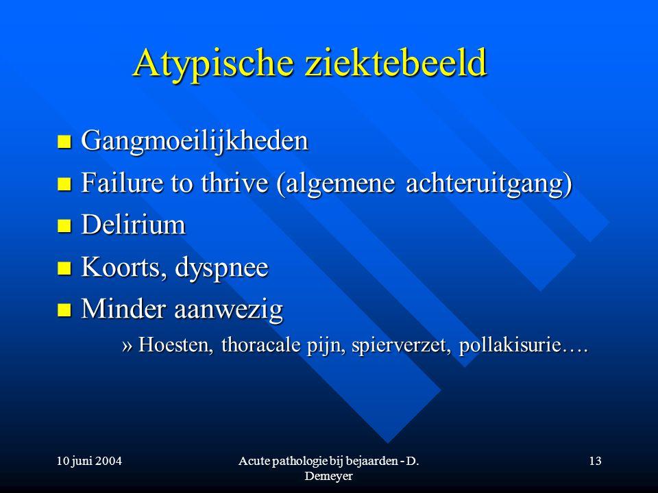 Atypische ziektebeeld
