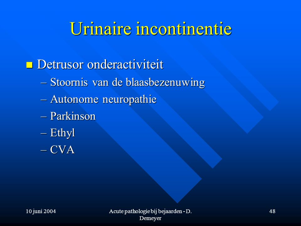 Urinaire incontinentie