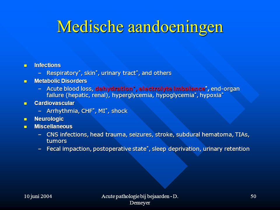 Medische aandoeningen
