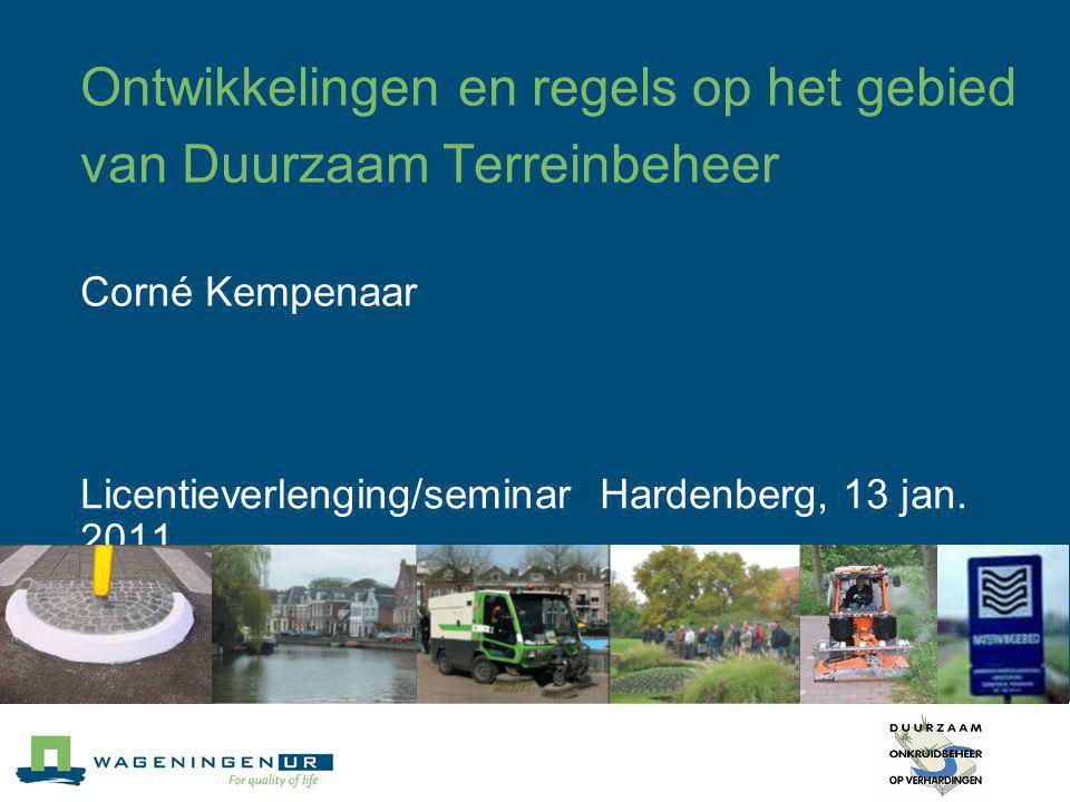 Licentieverlenging/seminar Hardenberg, 13 jan. 2011