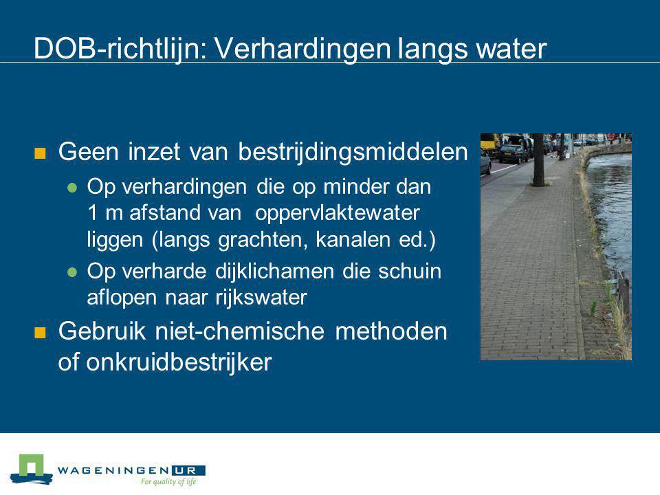 DOB-richtlijn: Verhardingen langs water