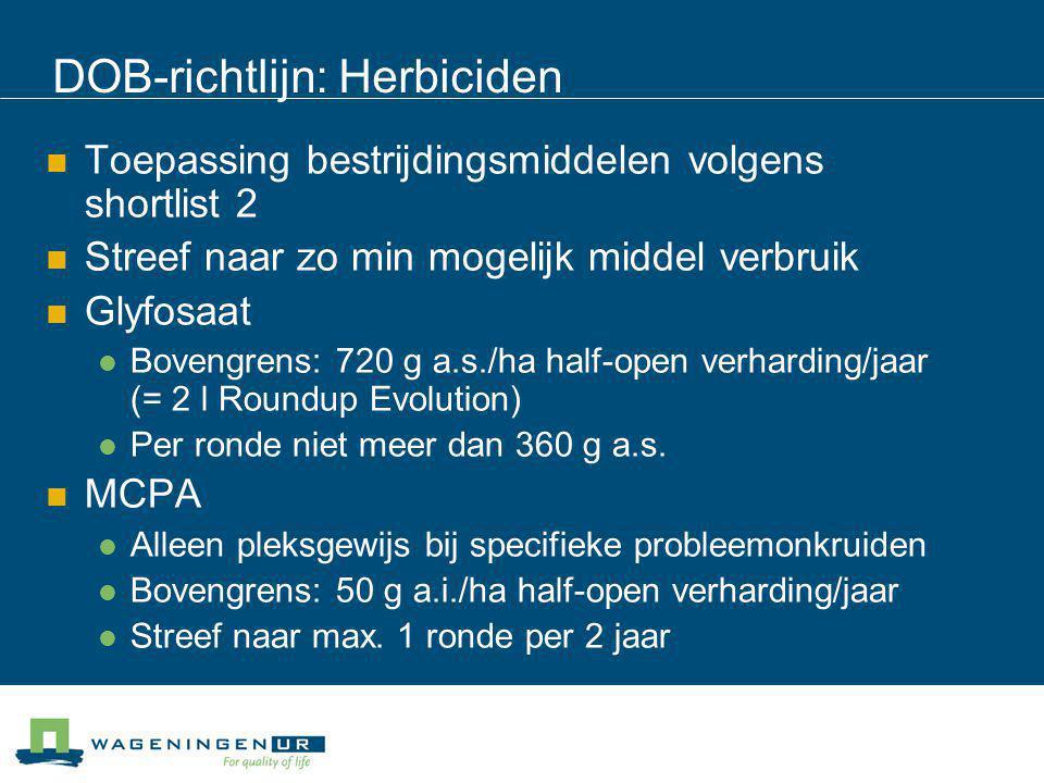 DOB-richtlijn: Herbiciden