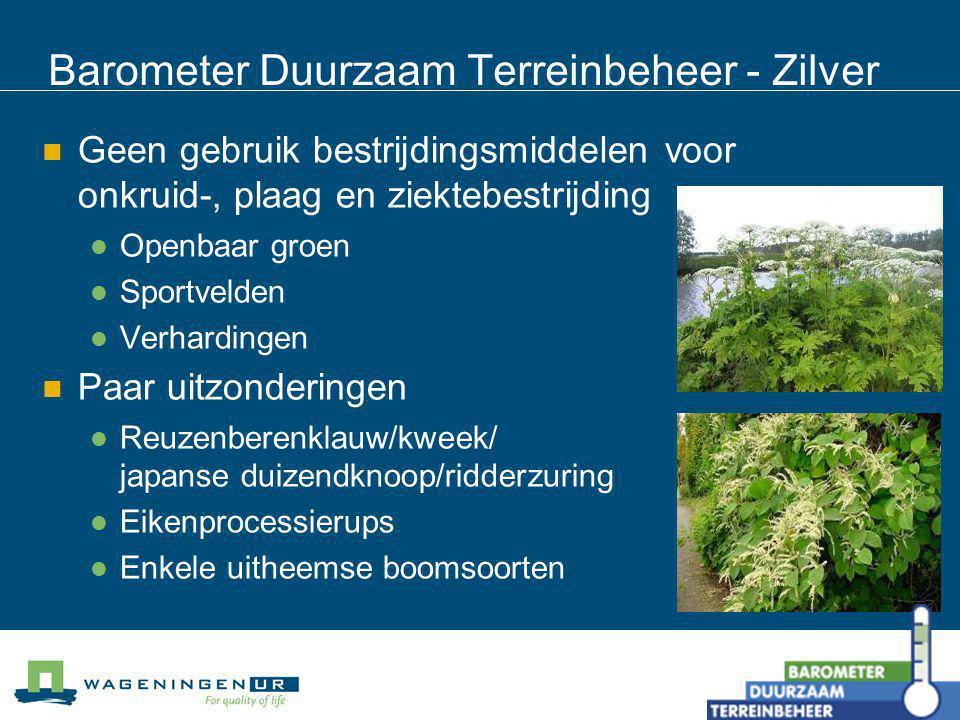 Barometer Duurzaam Terreinbeheer - Zilver