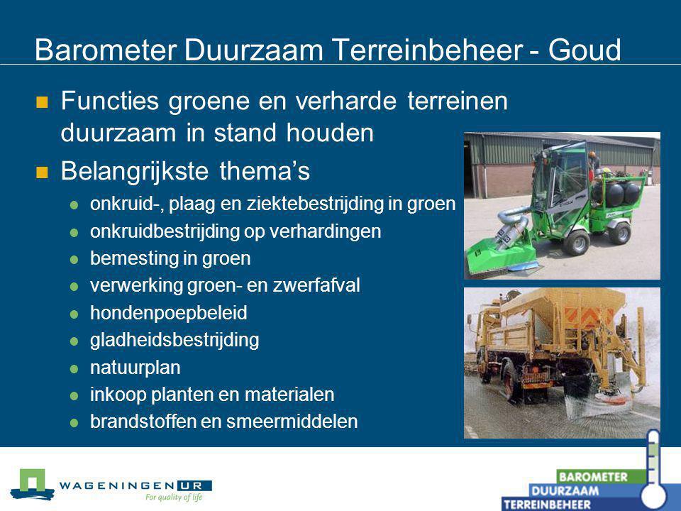 Barometer Duurzaam Terreinbeheer - Goud