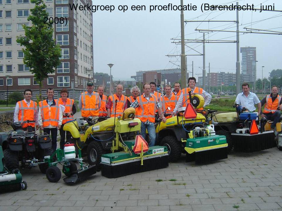 Werkgroep op een proeflocatie (Barendrecht, juni 2008)