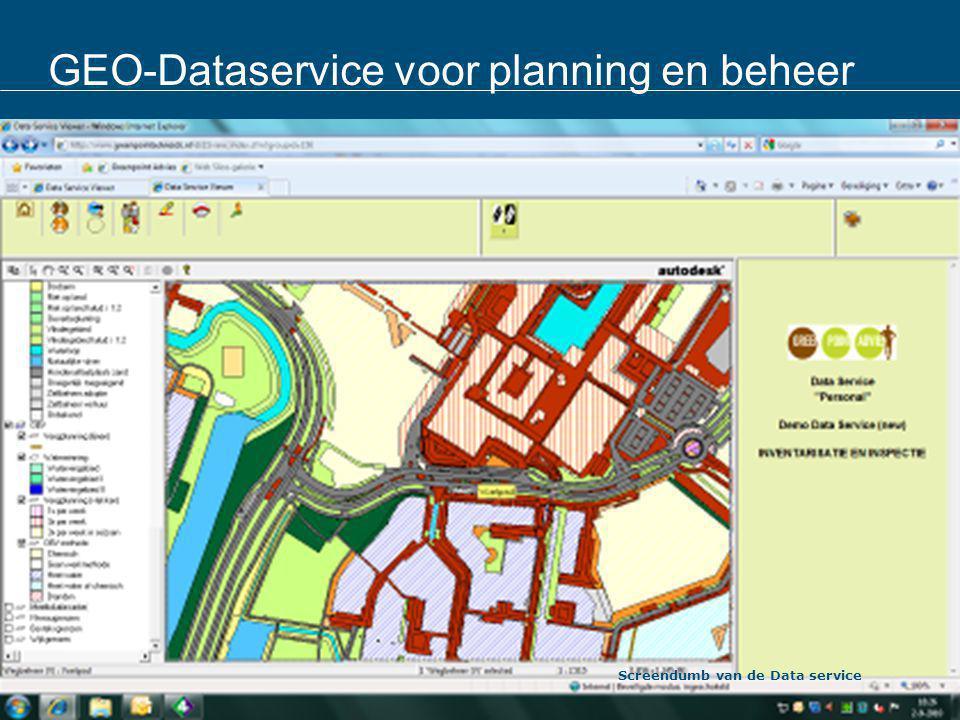 GEO-Dataservice voor planning en beheer