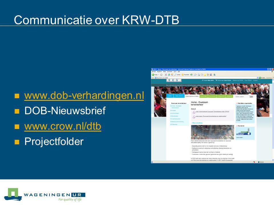 Communicatie over KRW-DTB