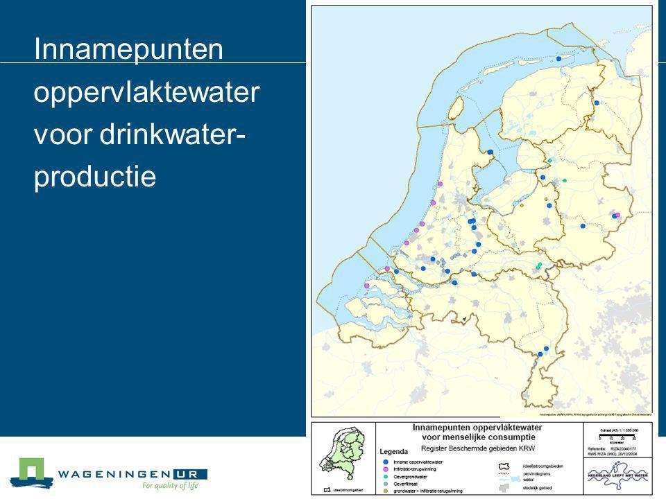 Innamepunten oppervlaktewater voor drinkwater-productie