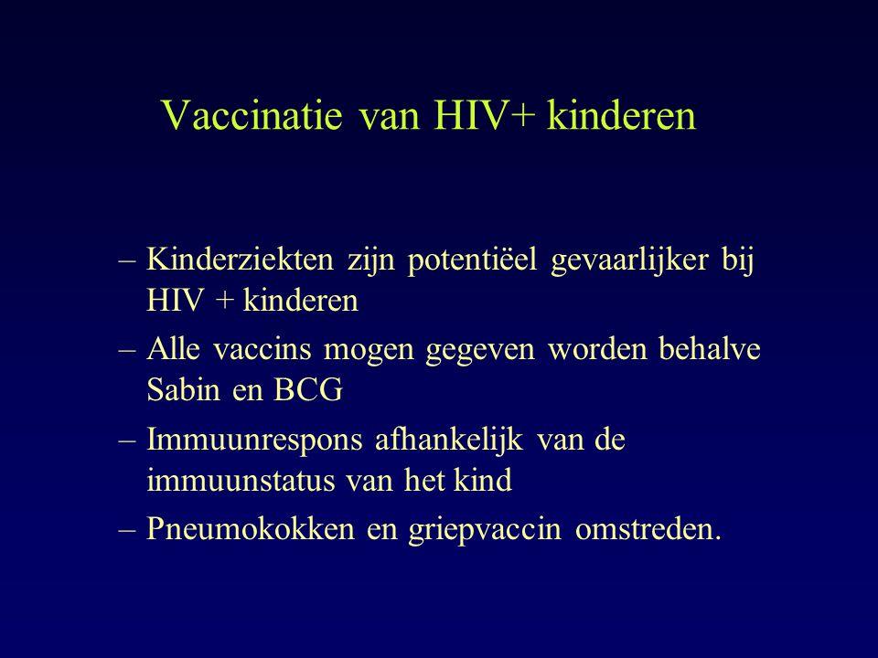 Vaccinatie van HIV+ kinderen