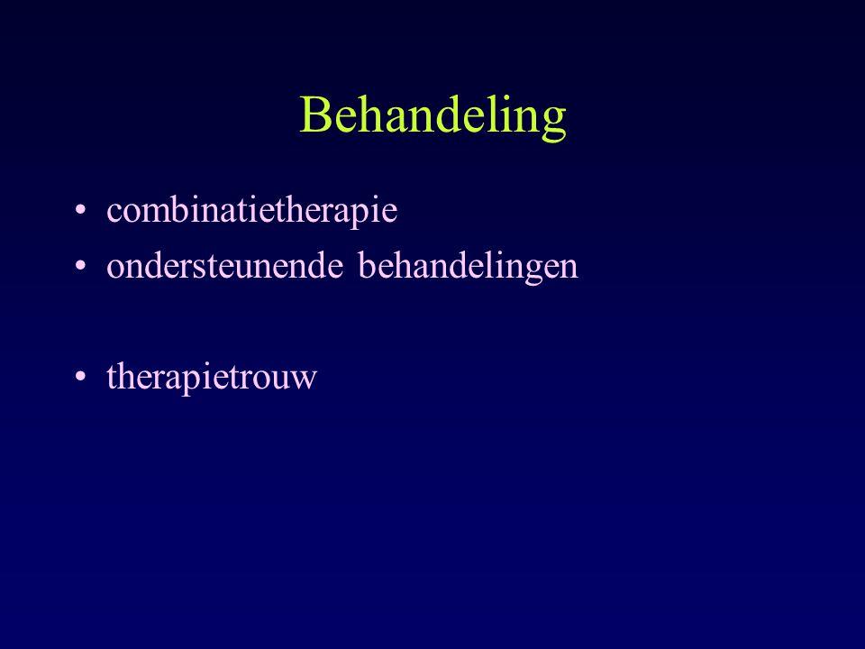 Behandeling combinatietherapie ondersteunende behandelingen