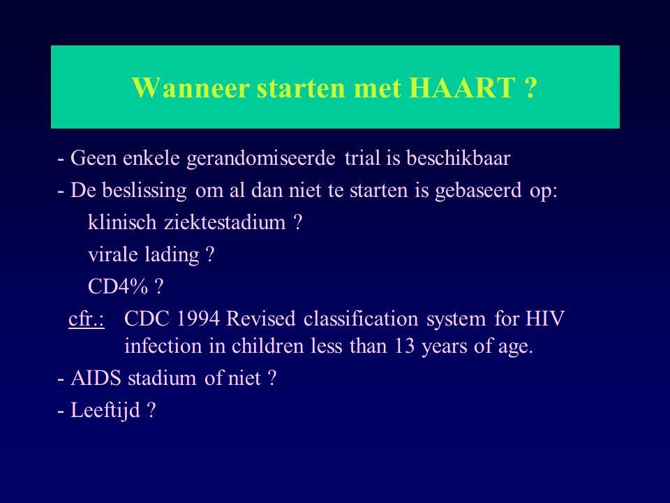 Wanneer starten met HAART
