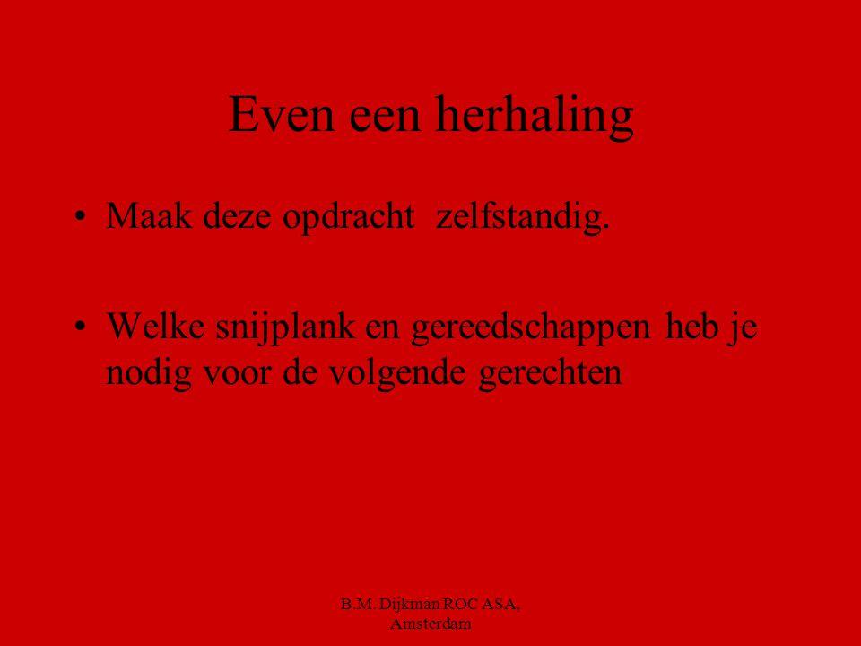 B.M. Dijkman ROC ASA, Amsterdam